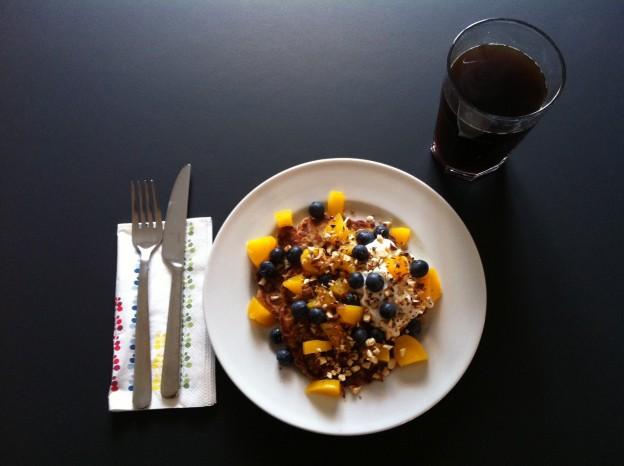 Opskrift på Sunde pandekager med banan og havregryn - Smagsfuldmad.dk